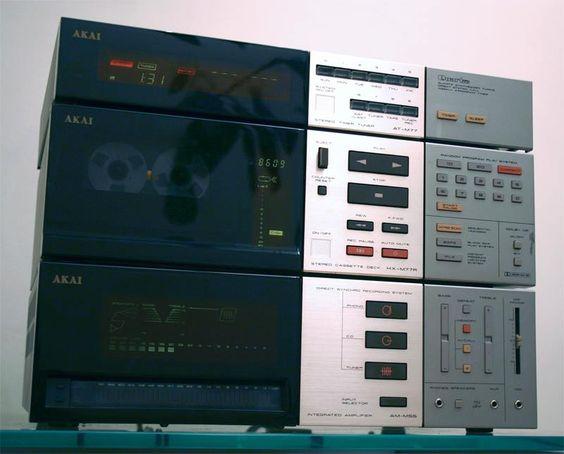 Set AKAI: AT-M77, HX-M77R, AM-M55