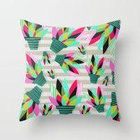 Joyful Plants II Throw Pillow