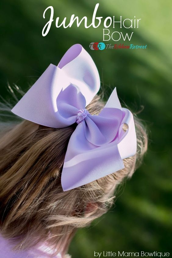 Jumbo Hair Bow Tutorial - The Ribbon Retreat Blog