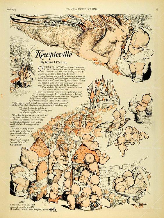 """Kewpieville"" by Rose O'Neill"
