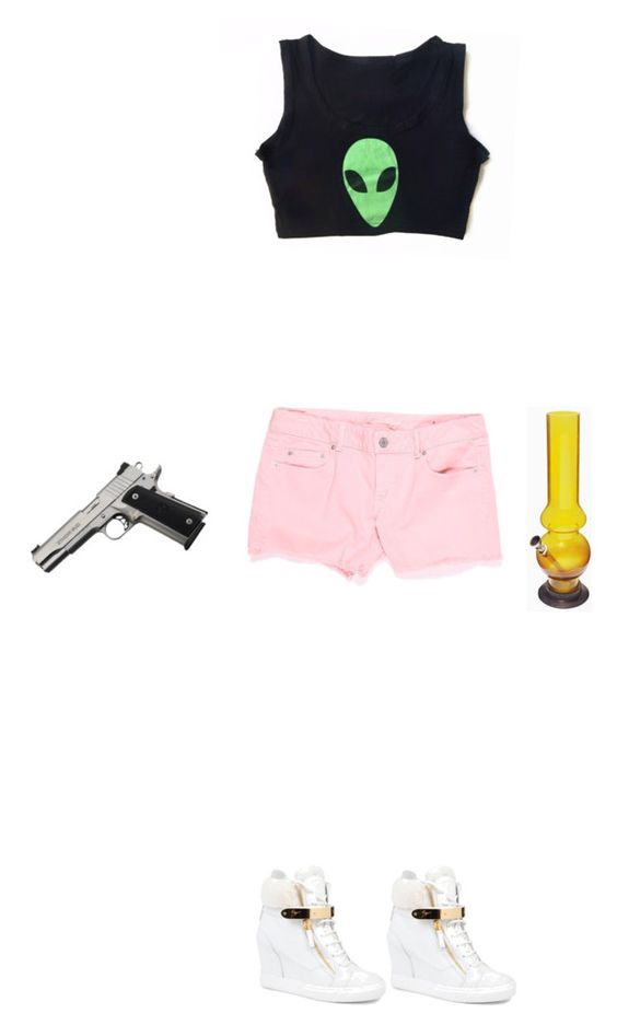"""Spring Breakers"" by marksamuelclark ❤ liked on Polyvore featuring American Eagle Outfitters, Giuseppe Zanotti and springbreakforever"