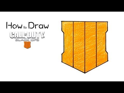 How To Draw The Black Ops 4 Logo Drawings Black Ops 4 Step By Step Drawing