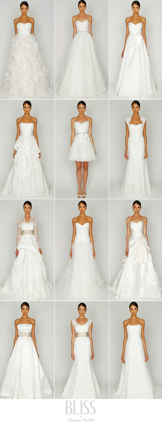 wedding dress shapes - informative!: