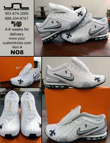 Custom New Orleans Saints Drew Brees Nike Reax Shoes #9 �C JNL ...