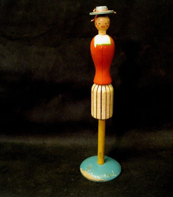 Swedish Lady Vintage Hat Stand