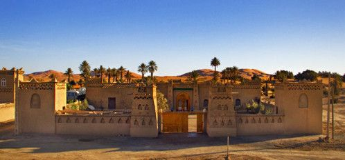 village MERZOUGA  . Maroc