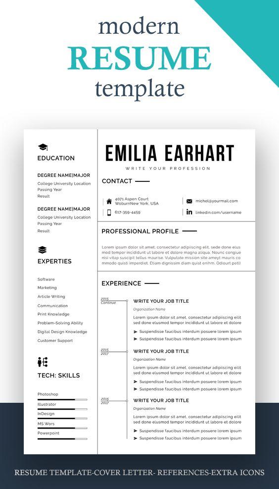 Resume Design Template Modern Resume Template Word Free Etsy Modern Resume Template Resume Design Template Resume Template Professional