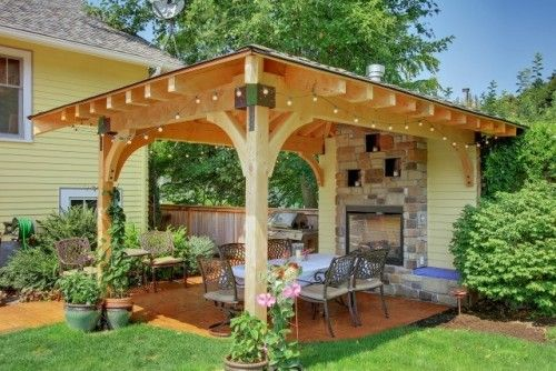 pergola look but covered roof