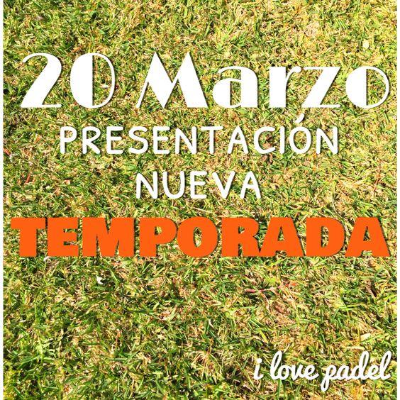 20 marzo presentación de la nueva temporada #ilovepadel #maria #toni #sandra #jose #alba #ana #sara #rocio #christian .... Y mas
