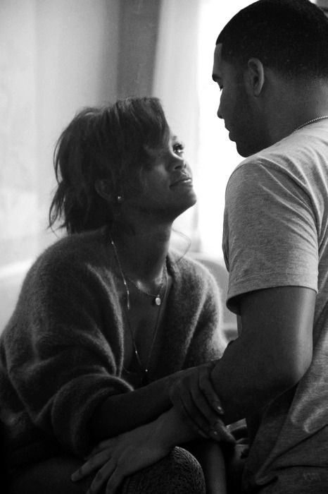 Rihanna and Drake. You'd actually think they were in love.  Damn she serious. He just wants to care for you.. dange let em!