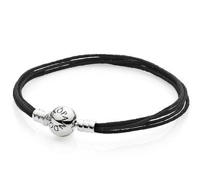 Image result for pandora bracelet five black strand