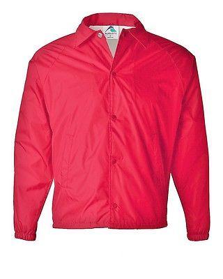 Augusta Sportswear Red WINDBREAKER   COACH'S JACKET NWT