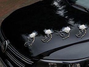 dcoration fleur organza et perles voiture mariage ces superbes fleurs blanches agrmentes de perles - Decoration Voiture Cortege Mariage