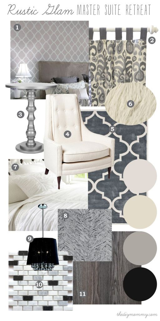 Gray Bedroom Mood : Rustic glam master bedroom suite should