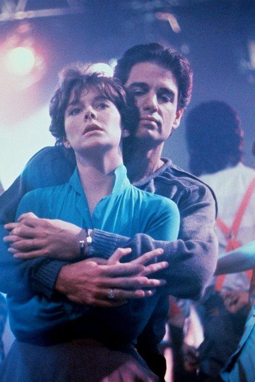 Chris Sarandon as Jerry Dandridge and Amanda Bearse as Amy, Fright Night