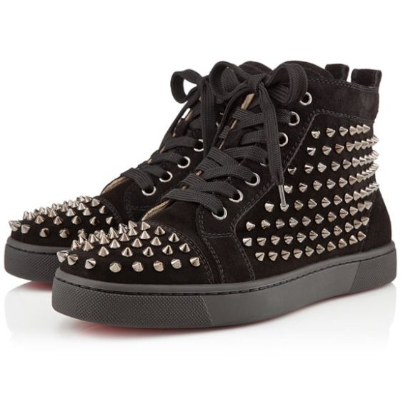 christian louboutin mens sneakers - Women Christian Louboutin Louis #Spike Black Gun #Converse ...
