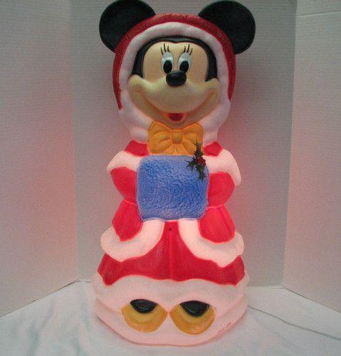 Santa\u0027s Best Disney MINNIE MOUSE Light Up Christmas Blow Mold