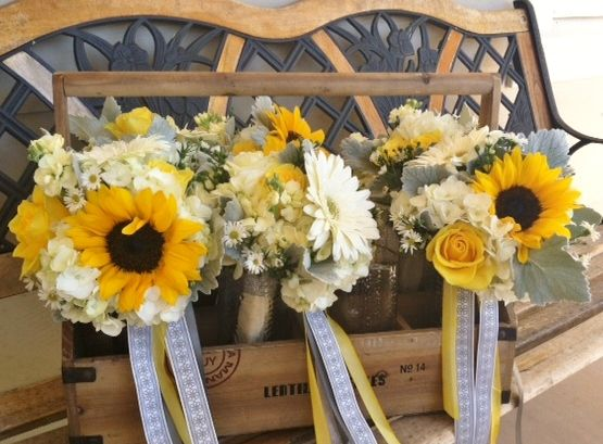 Yellow, gray and white wedding inspiration. Designed by Nina with By Request. www.byrequest.us