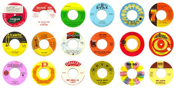 #thinkcolorfully vintage 45's,