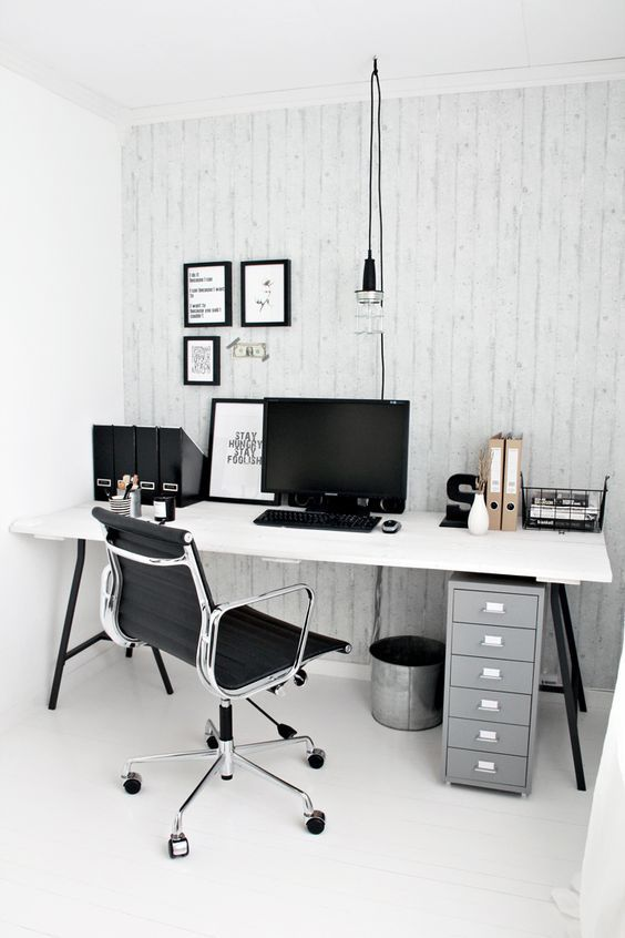 Chaise De Bureau Ea117 Inspiration Eames Home Office Design Home Office Space Home Office Decor