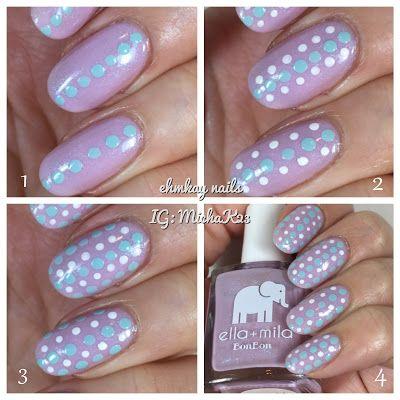 ehmkay nails: Born Pretty Store All-in-One Dotting Tool with Ella + Mila Midnight in Paris Dotticure Tutorial