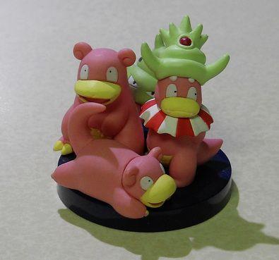 Slowpoke Slowbro Slowking Pokemon Zukan figure set ...