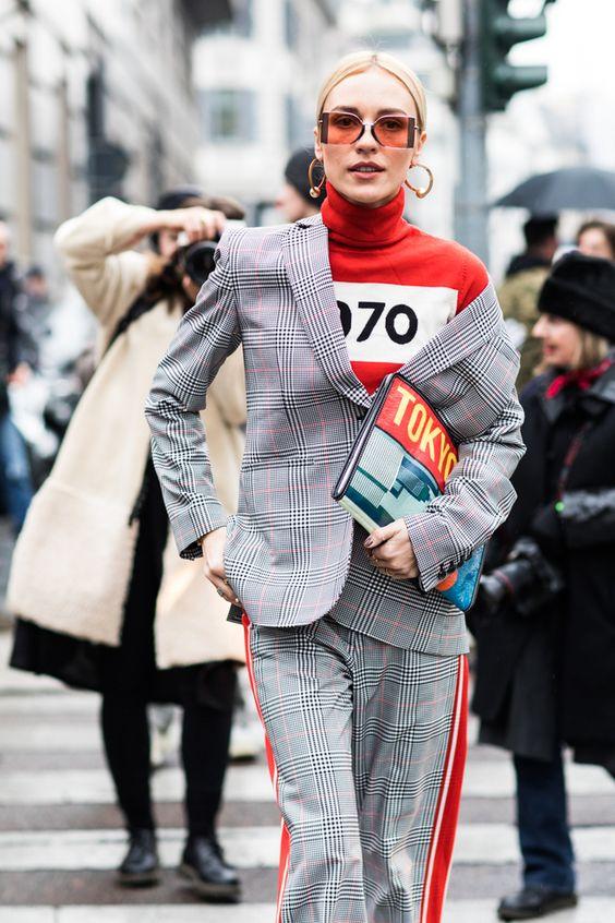 Street style à la Fashion Week automne-hiver 2018-2019 de Milan Photo par Sandra Semburg
