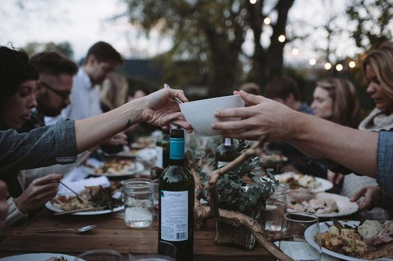 ginandbird:  ginandbird:  our big farm dinner would look something like this…    ^ that note was from ages ago… cannot believe it has stuck around all this time…