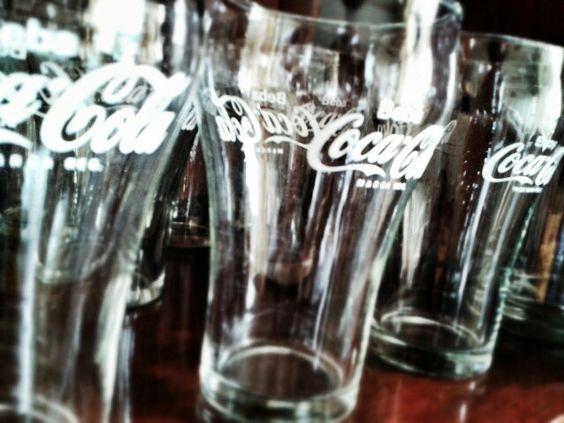 Coleção copos coca-cola
