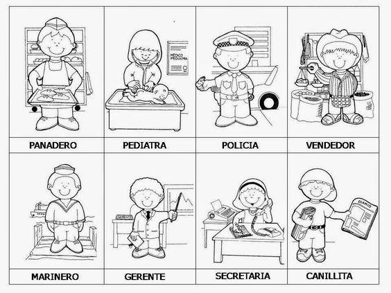 Imagenes Para Colorear De Español: SGBlogosfera: Profesiones: Conocemos Y Coloreamos (16