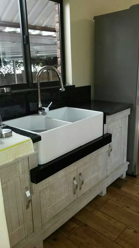African Allure Butlers Sink Unit from Milestone Kitchens. This is the But 10.
