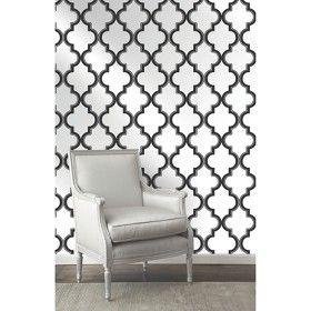 Devine Color Cable Stitch Peel & Stick Wallpaper Black