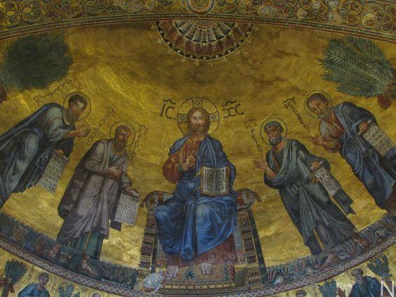 Cristo Pantrocrator / Abside de la Basílica mayor de San Pablo extramuros