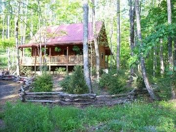 Todd cabin rental - Cabin is Located in a Quiet Wooded Setting Next to a Stream