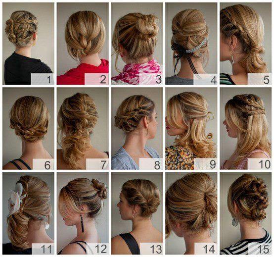 variedade de penteados!