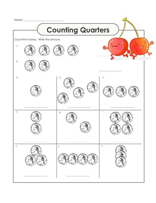 Counting Money Worksheets : counting money worksheets with half ...