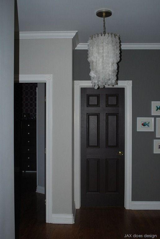 From bedroom1 5b2 color scheme pinterest for Dark doors light walls