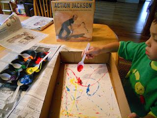 If only I knew about Jackson Pollock before my art education class was over. He was from Wyoming! Perfect for social studies art integration!!!!!!