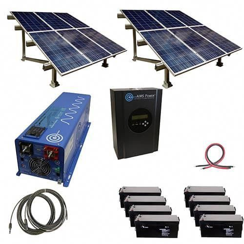 2880 Watt Off Grid Solar Kit With Solar Rack And 6000 Watt Power Inverter Charger 48 Volt Solarpanels In 2020 Solar Energy Panels Solar Technology Best Solar Panels
