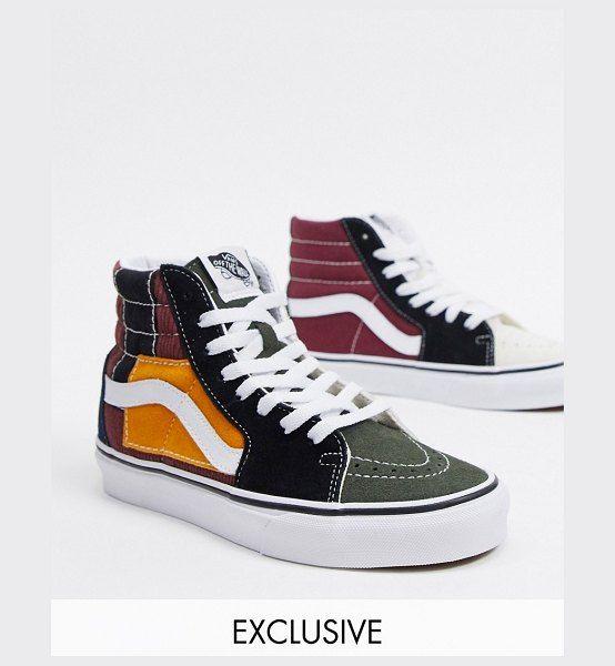 Vans Sk8-Hi Patchwork Sneakers In Multi