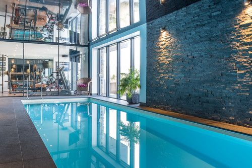 Top 10 Dream Home Gyms - This Home Gym Complete with Pool