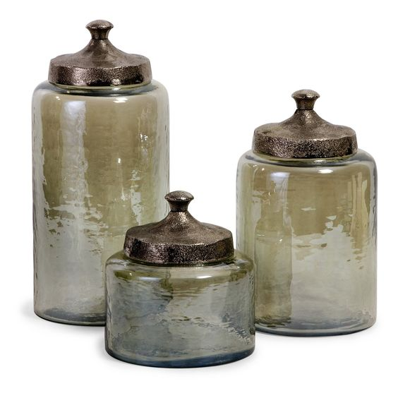 IMAX 6.75-13H in. Round Canisters - Set of 3 | from hayneedle.com