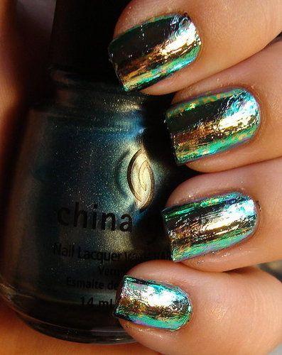 Nail foils - blue, green, silver gold... ARGH! SO PRETTY!
