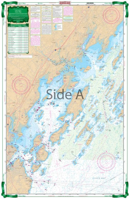 Casco Bay To Monhegan Me Large Print Navigation Chart 101e Navigation Chart Marine Charts Navigation Map