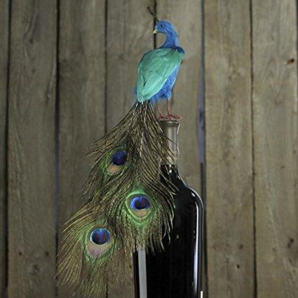 """16"""" Artificial Closed Tail Feathered Peacock"""