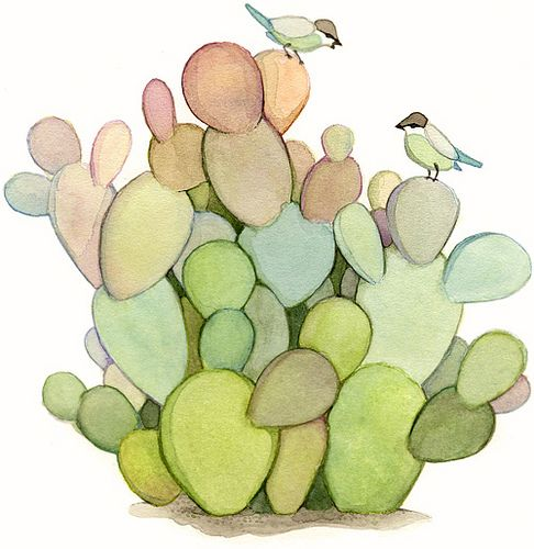 "https://flic.kr/p/6kukid | Colorful cactuses | Watercolor on paper <a href=""http://allaboutjoojoo.blogspot.com/2009/05/illustration-friday-hierarchy-colorful.html"" rel=""nofollow"">Blogged here</a>:"