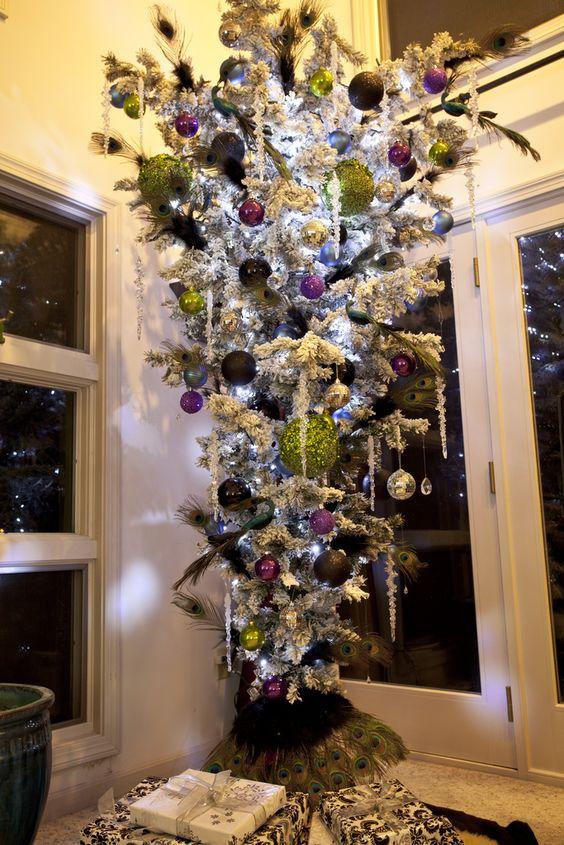 Upside Down Christmas Tree Peacocks And Christmas Trees