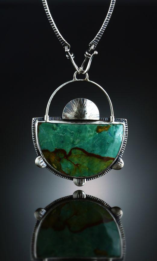 Vista Jasper Centerpiece. Fabricated Sterling Silver. www.amybuettner.com