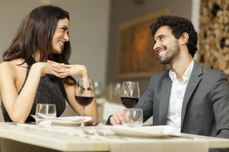 A first date doesn't need heavy conversation, so taking it slow is the key.