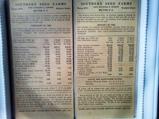 1940's Feed store prices list from S.C. by ARTCPACKRAT on Etsy